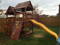 Beautiful kids outdoor play set.