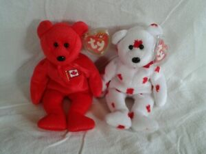 Proud Ty Chinook and Pierre Beanie Babies
