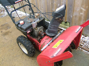 8.5/26 in cut snowblower $75 ono