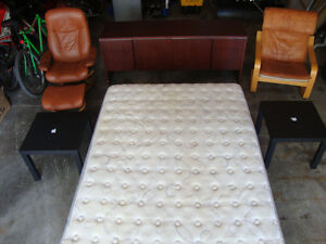 BED-BOX SPRING-CHAIR-TABLES-DRESSER-6 ITEMS FOR $225