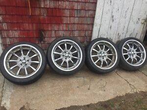 "20"" 5x114.3 mm chrome boss rims"