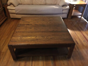 Wooden coffee table 4' x 4'