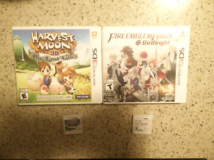 Nintendo 3ds games - fire emblem, harvest moon