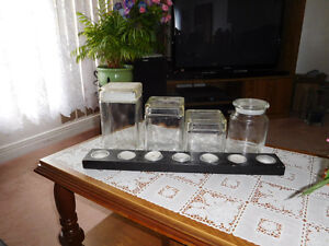 4 GLASS KITCHEN CONTAINERS. West Island Greater Montréal image 2