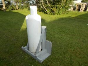 Support pour réservoir propane.