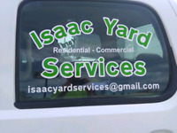 Isaac Yard Services. Lawn mowing, Core aeration, Shrub trimming