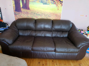Selling brown Leather sofa $300