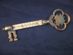 Antique Skeleton Key Thermometer