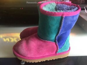 Size 12 girls multi colour boots