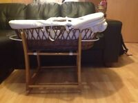 Mothercare moses basket with rocker