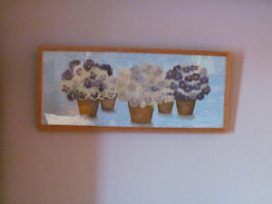 2 framed pressed pansy pictures