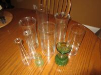 Lot of 11 vases - different shapes and sizes