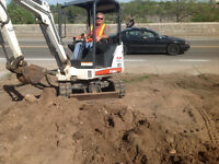 Mini excavation 905-351-0470