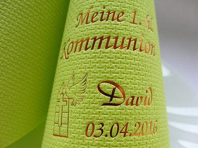 mit Namen & Motiv bedruckte Kaffee-Servietten KOMMUNION/KONFIRMATION/JUGENDWEIHE