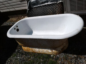 Antique old bathtub