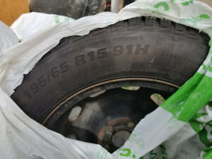 4 set of 195/65R15 91H 4 seasons tires with rims