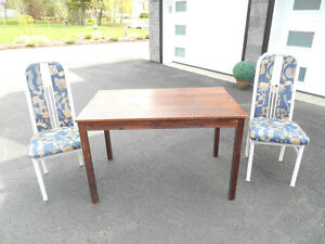 Solid Wood Table & 2 Chairs  REDUCED
