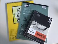 Never used Sketch books and drawing pads