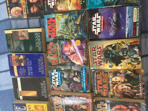 Collection of 28 Star Wars and Dune series novels .
