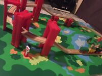 Train table includes trains and tracks