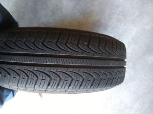 All season tires with alloy wheels