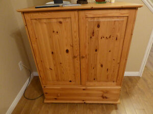 Solid pine wardrobe cabinet or TV stand