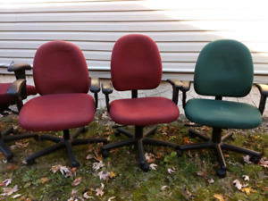 3 Office Chairs-Fully Adjustable