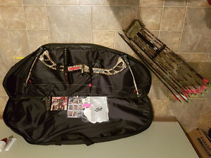 PSE bow arrows and case