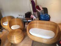 Retro, funky, classic Rattan cane furniture