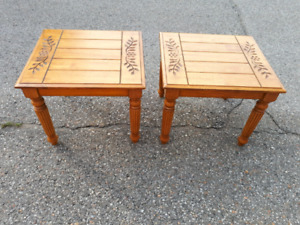 End tables ( set of 2 )