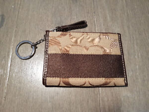 COACH Signature C Brown Coin Purse [WALLET]