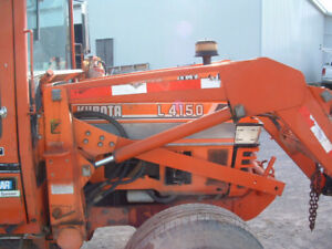 50 hp 2 wheel drive  Kubota L4150 diesel loader with heated cab