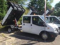 2014 63 FORD TRANSIT 2.2TDCi ( 125PS ) 350EF CREW CAB LWB DROPSIDE TIPPER