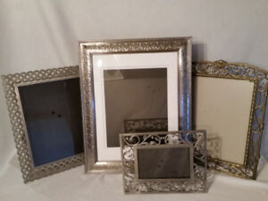 2 Heavy Table top/Wall Photo Picture Frames