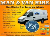 MAN AND VAN HIRE CHEAP REMOVAL COURIER SERVICE HOUSE FLAT OFFICE LONDON EBAY MOVE SOFA BED BUSINESS