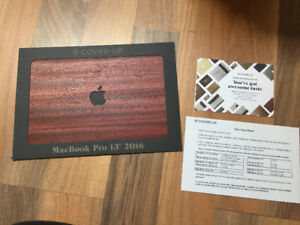 Padauk wood laptop skin for Macbook pro 13""