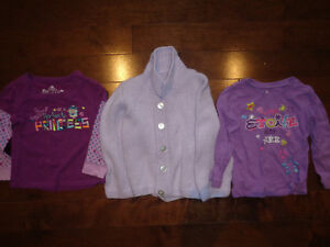 Size 3 wool sweater and 2 shirts