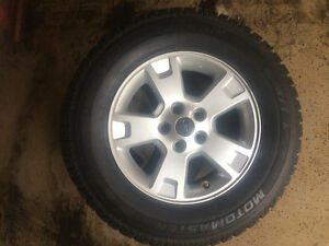 Snow tires on Ford Escape rims Cambridge Kitchener Area image 1