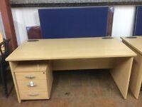 Straight maple 1600 desk