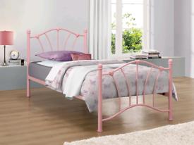 Birley Sophia Pink Metal Bed Frame