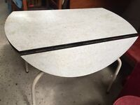 Vintage retro 50s 60s folding Formica kitchen dining Table