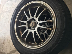 "Yokohama Geolander Winter tires on 18"" custom rims"