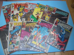 (40) MARVEL WOLVERINE AND DAREDEVIL COMICS FOR SALE 1990's