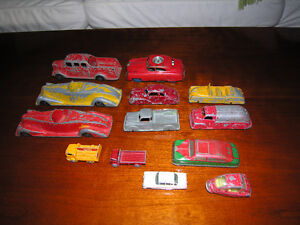 Collection of vintage tin and metal cars & trucks