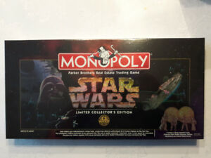 New in Box Star Wars Monopoly 1996 Limited Collectors Edition