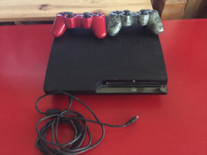 PS3 Slim, controllers, games.