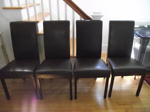Bonded leather chairs