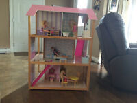 Large 2 sided wooden doll house