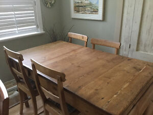 1850's Antique Table & 5 Chairs