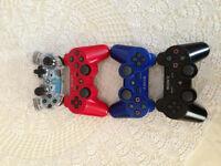 4 manettes:rouge-bleue-grise-noire+HDMI+cable recharge manette